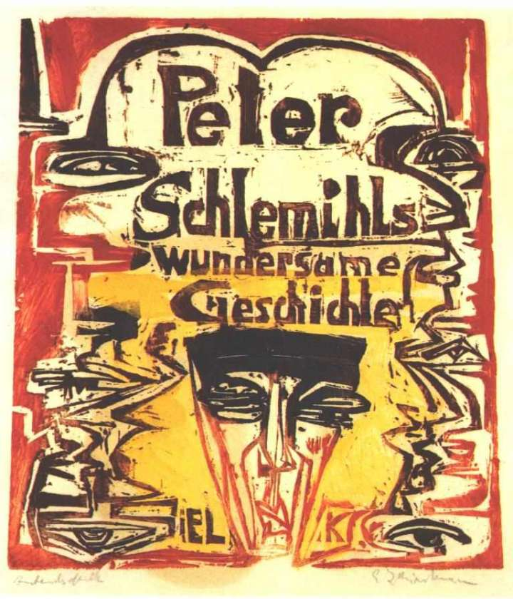 """Titelblatt von Ernst Ludwig Kirchner aus """"Peter Schlemihls wundersame Geschichte"""""""