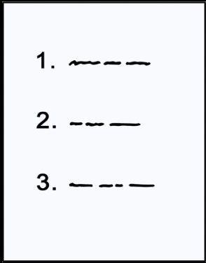 Zeichnung einer WartelisteWarteliste