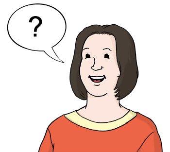 Frau mit Frage