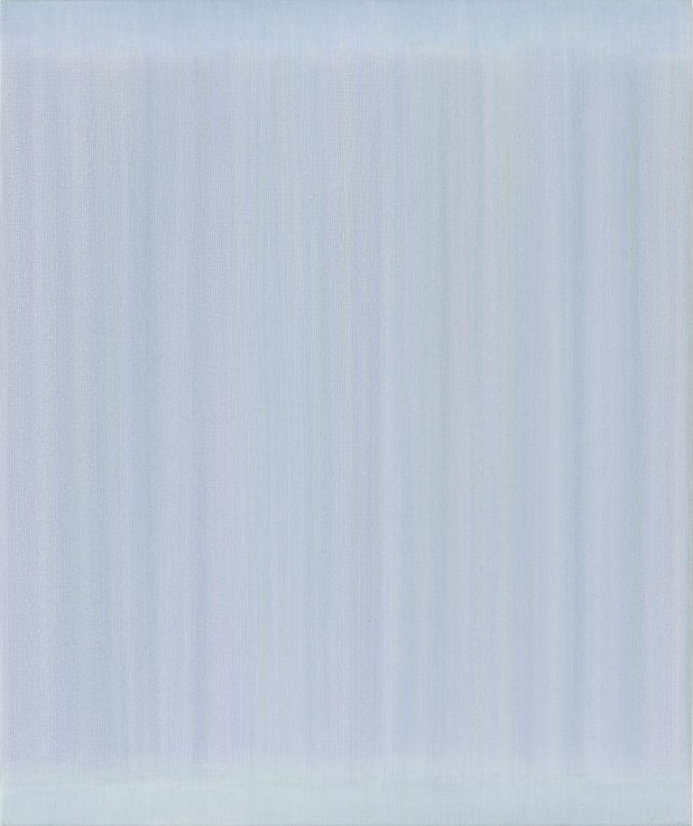 hellblaues monochromes Acrylbild