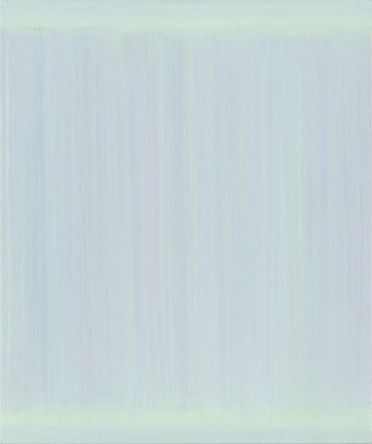 eisblaues monochromes Acrylbild